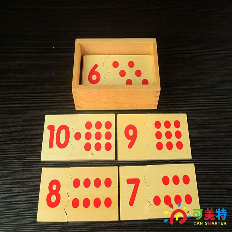 Montessori Education 1-10 Numbers Puzzles  Beech Wood  Math toys Early educational toys Can Smarter montessori education 0 10 numbers odevity pedestal beech wood math toys early educational toys free shipping