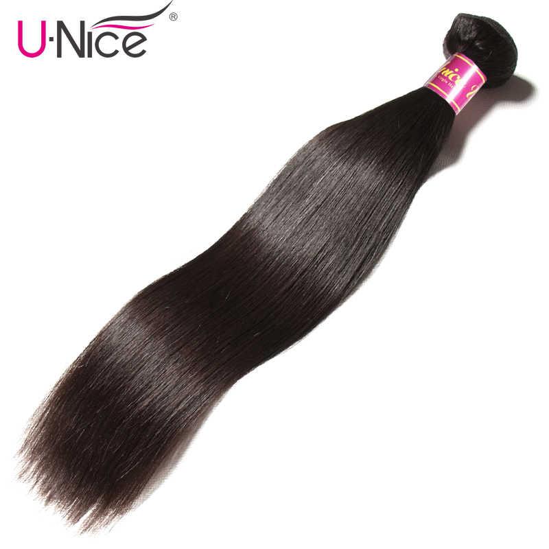 UNICE SAÇ Brezilyalı Düz Saç Demetleri Doğal Renk 100% insan saçı örgüsü Demetleri 8-30 inç Remy Saç Uzatma 1 Adet