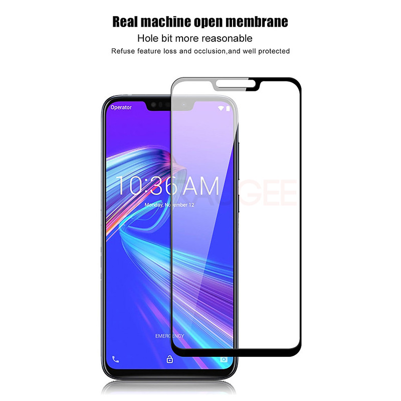 Image 3 - Screen Protector For Asus Zenfone Max Pro M2 ZB631KL Tempered Glass 9H Full Cover Glass For ZB631KL ZB633KL Tempered Glass Guard-in Phone Screen Protectors from Cellphones & Telecommunications