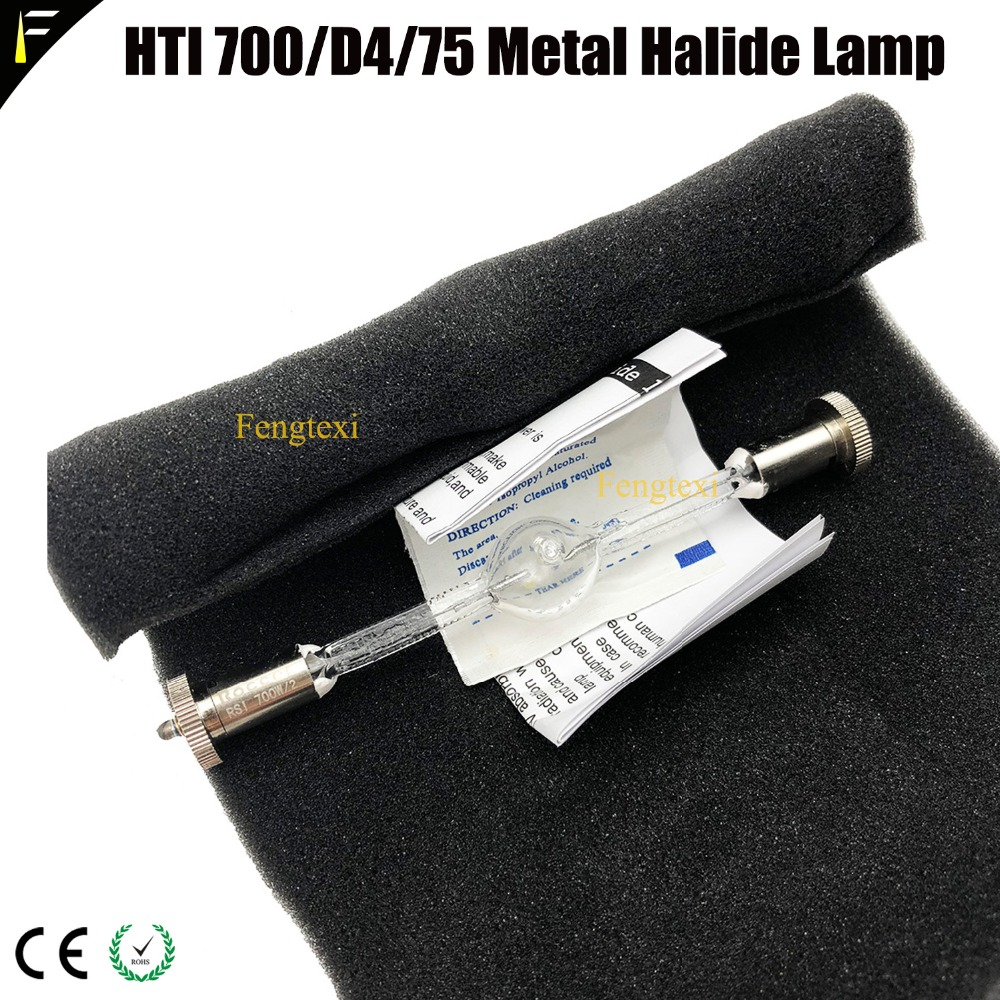 6pcs/lot Mac700 Stage Moving Light Bulb HTI700 Hti700 Metal Halide Lamp Bulb HTI 700/D4/75 Professional Theater Light Bulb Lamps