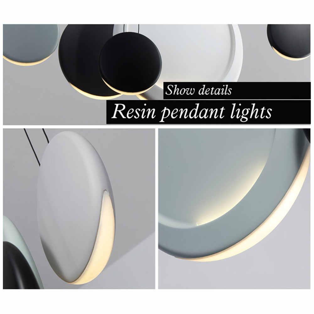 Скандинавский пост-современный минималистичный гостиная столовая подвесная панель освещения творческая личность полумесяц легкие подвесные светильники