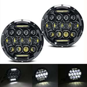 """Image 5 - 7"""" Headlight For Jeep Wrangler TJ JK 7 Inch Round LED Projector Headlights For Classic Mini Austin Rover For Hummer H1 H2"""