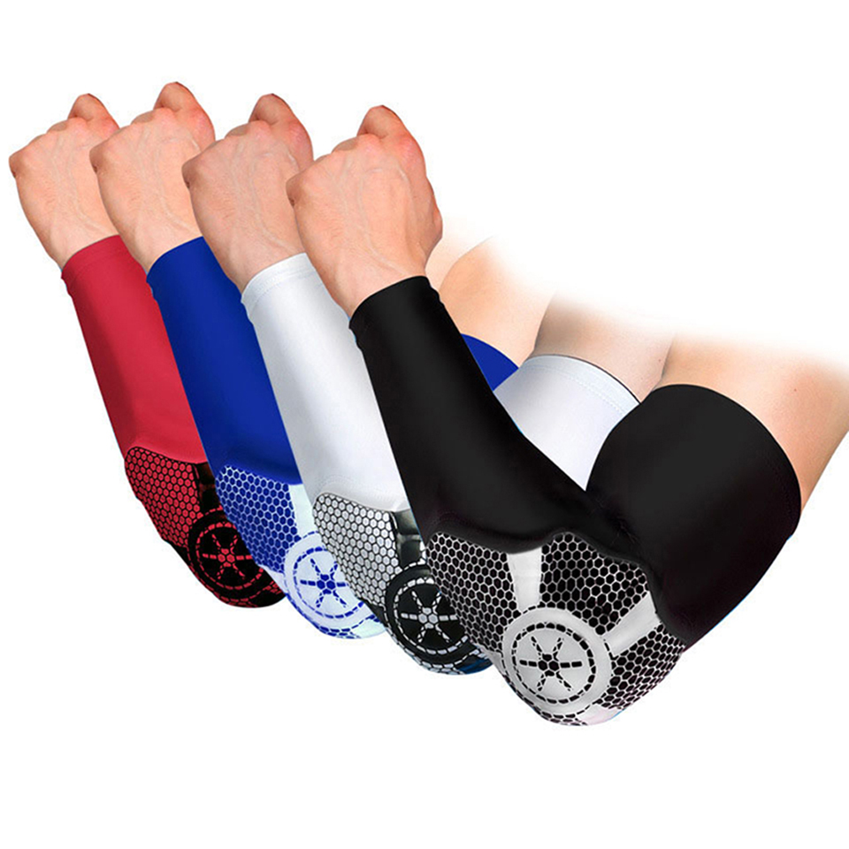 1PCS Elbow support Basketball Breathable Sport Safety Elbow Pad brace protector Guards Pads Arm Sleeve Cycling Compression