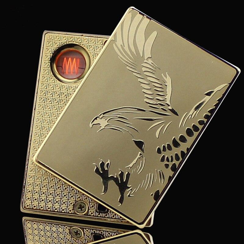 Elegant Metal Windproof Novelty Encendedor Usb Lighters font b Electronic b font font b Cigarette b