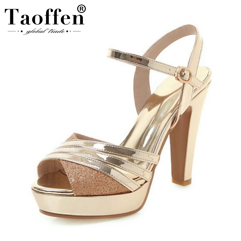 TAOFFEN Party Young Ladies Super High Heels Summer Shoes Women Platform Sandals Hot Sexy Office Women Work Sandals Size 32-43TAOFFEN Party Young Ladies Super High Heels Summer Shoes Women Platform Sandals Hot Sexy Office Women Work Sandals Size 32-43