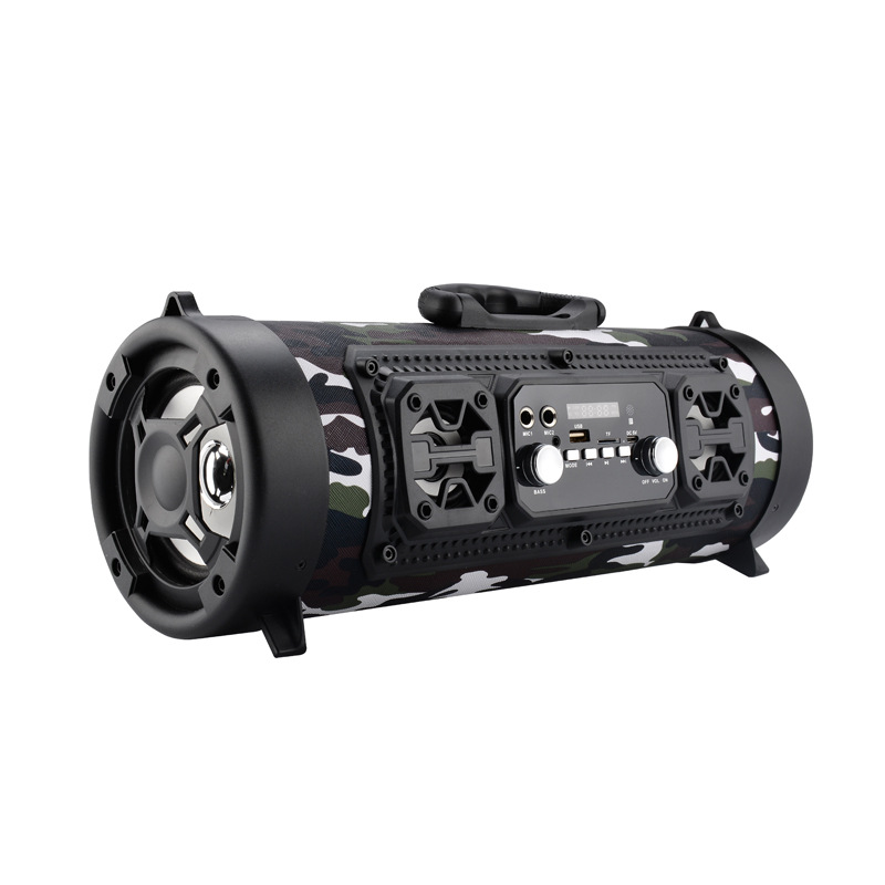 20 W Portable haut-parleur Bluetooth colonne basse Subwoofer barre de son sans fil Portable colonne avec FM Radio Mic KTV système de son Boom