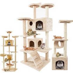 Muebles de lujo para mascotas torre de gatos de 36-80 pulgadas torre de árboles para mascotas estante de escalada para gatos juego de apartamento para gatos Casa de juguete