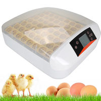 US FHQ 24 LED Display 24 Farm Chicken Duck Poultry Hatcher Egg Incubator Hatching Fully Automatic