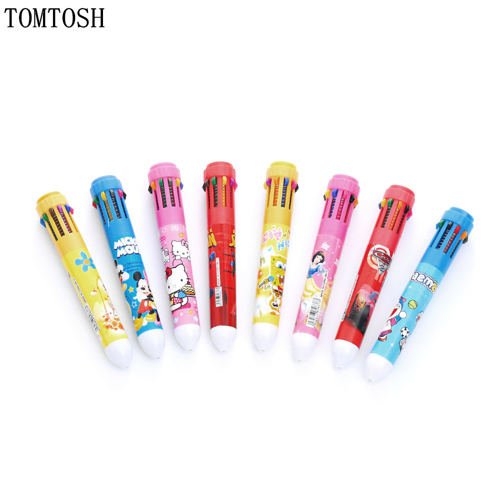 TOMTOSH cartoon colored ball pen / student pen / office cultural and educational supplies