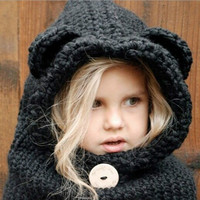 Autumn Winter Baby Hats Kids Cute Bear Hat Beanie Cap Toddler Infant Baby Girls And Boys