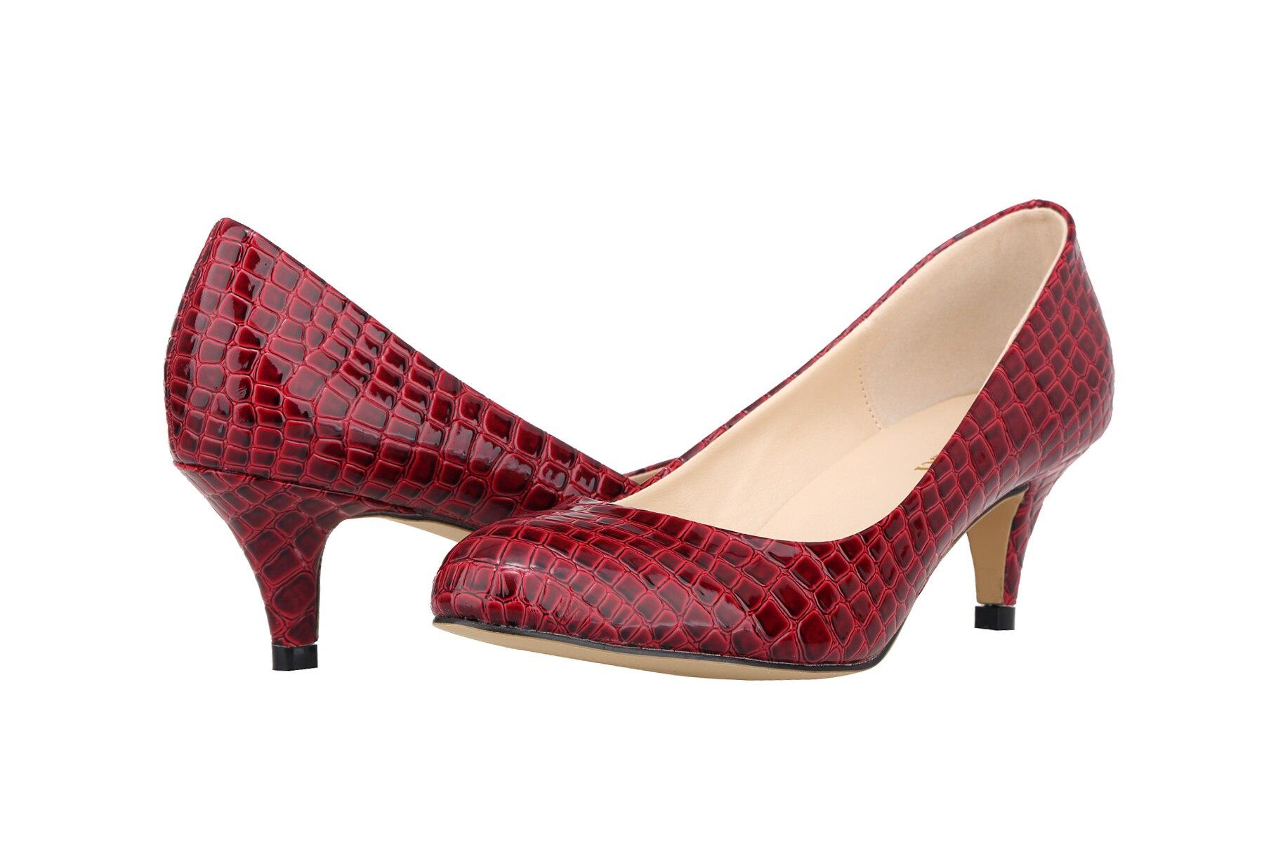 e5562306132c1 Faux Crocodile Chaussures Femme Dames de Bureau Chaussures Femmes Talons  hauts Chaussures Point Toe Femmes Pompes Sapatos Femininos Salto 332-1EY
