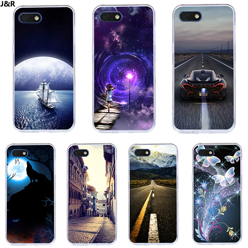 J&R Starry Sky Pattern <font><b>Phone</b></font> Case <font><b>For</b></font> <font><b>Huawei</b></font> Y5 Prime 2018 Y5 Lite 2018 <font><b>DRA</b></font>-L21 <font><b>DRA</b></font>-L22 <font><b>DRA</b></font>-<font><b>LX2</b></font> <font><b>DRA</b></font>-LX5 Soft Silicone Back Cover image