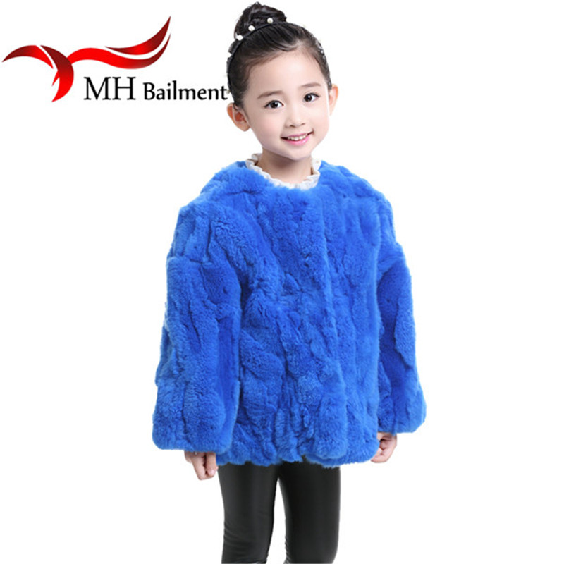 2017 Rabbit Fur Coat Children Autumn Winter Girls Outerwear Coat Fur Real Rabbit Fur Short Section Clothing Multiple Jacket C#36 children whole real rabbit fur coat autumn winter warm long boys fur coat v neck thicker warmer clothes natural casual coatscn 1