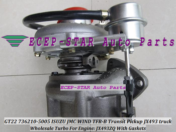 Free Ship Oil Cooled Turbo GT22 736210 736210 5005 736210 0005 118300SZ For ISUZU JMC Transit