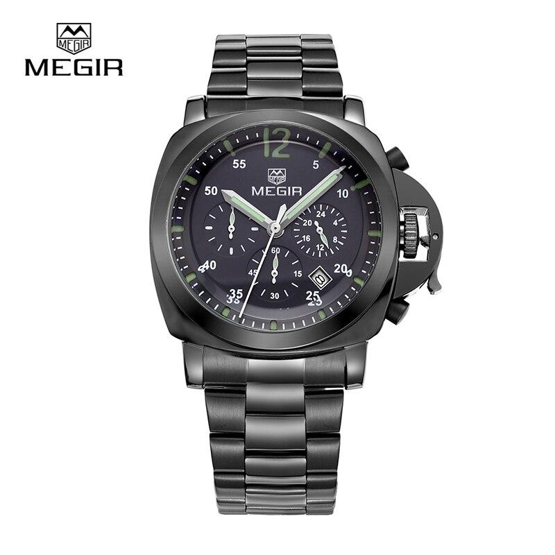 MEGIR Fahsion font b Men s b font Quartz Watches Quality Military Luxury Brands with Luminous