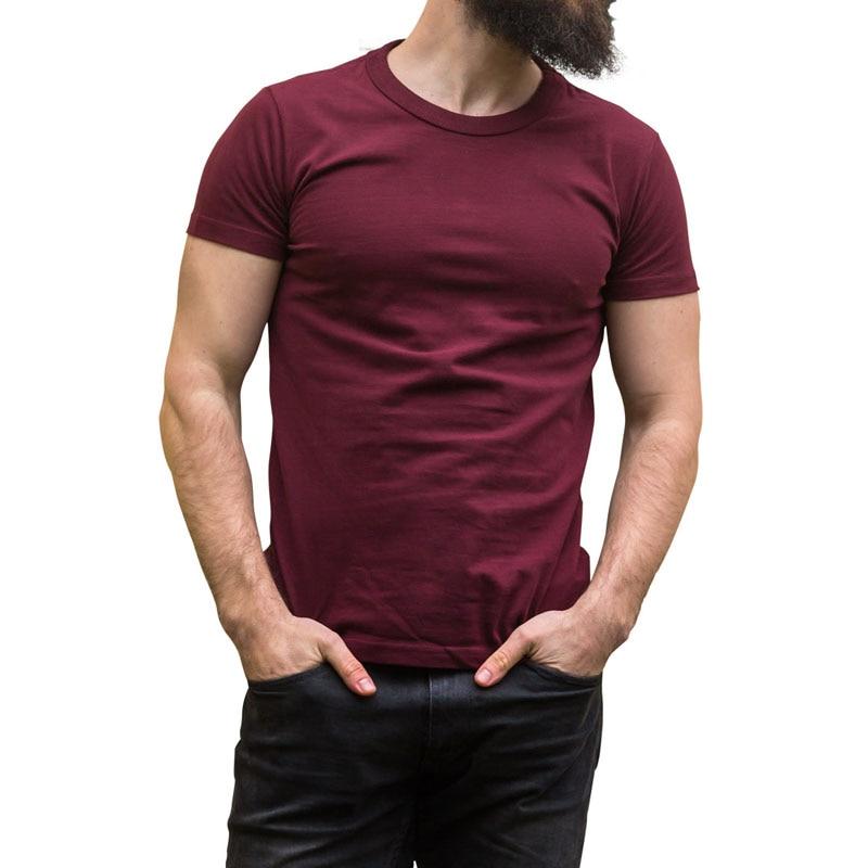 Reine Baumwolle Einfarbig Kurze Ärmel T-Shirt Lässige Herren - Herrenbekleidung