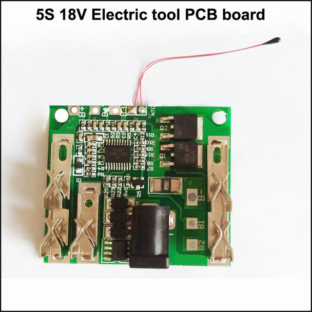 5S 18V and 21V electric tool li ion battery PCB board and electric ...