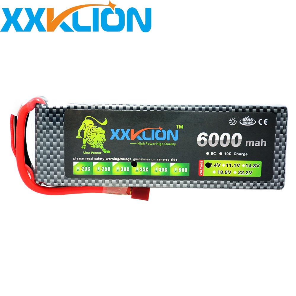 XXKLION 7.4V 6000mAh 35C 2S RC LiPo battery pack For RC Airplane Quadrotor Car Boat Drone RC boat Li-ion battery Free Shipping yukala 4 8 v 700mah n cd aa battery for rc car rc boat rc tank 2pcs lot free shipping