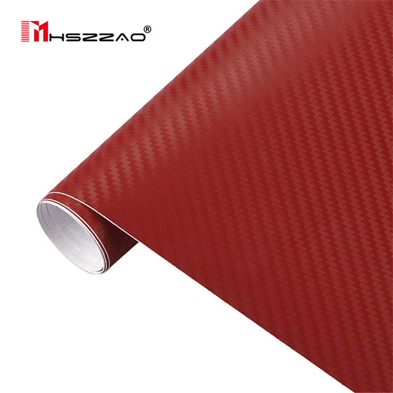 3D 30cmx127cm Carbon Fiber Vinyl Car Wrap Sheet Roll Film Car stickers and Decals Motorcycle Car Styling Accessories Automobiles in Car Stickers from Automobiles Motorcycles
