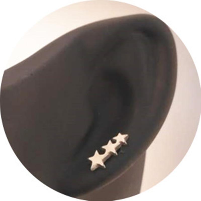 20PCS/PACK Star earring cool 3 star earrings unisex man woman fashion jewelry ear piercing jewelry