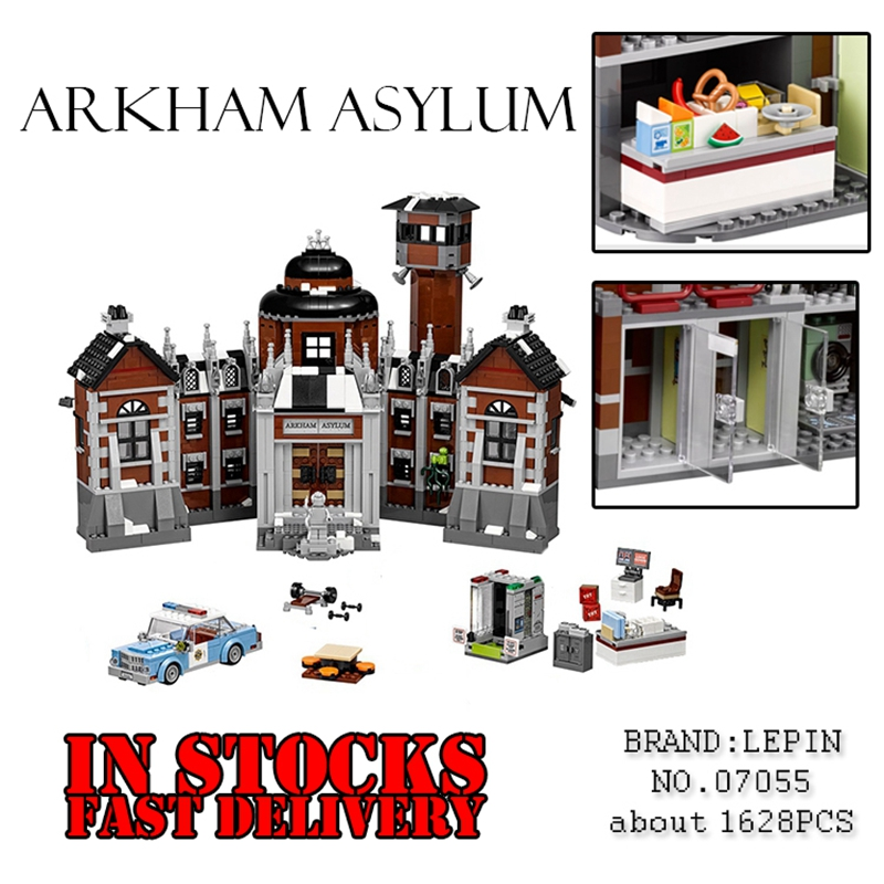 New Marvel Super Heroes Lepin Batman Movie 07055 1743Pcs Arkham Asylum Building Blocks Bricks hot fun Toys for children 70912