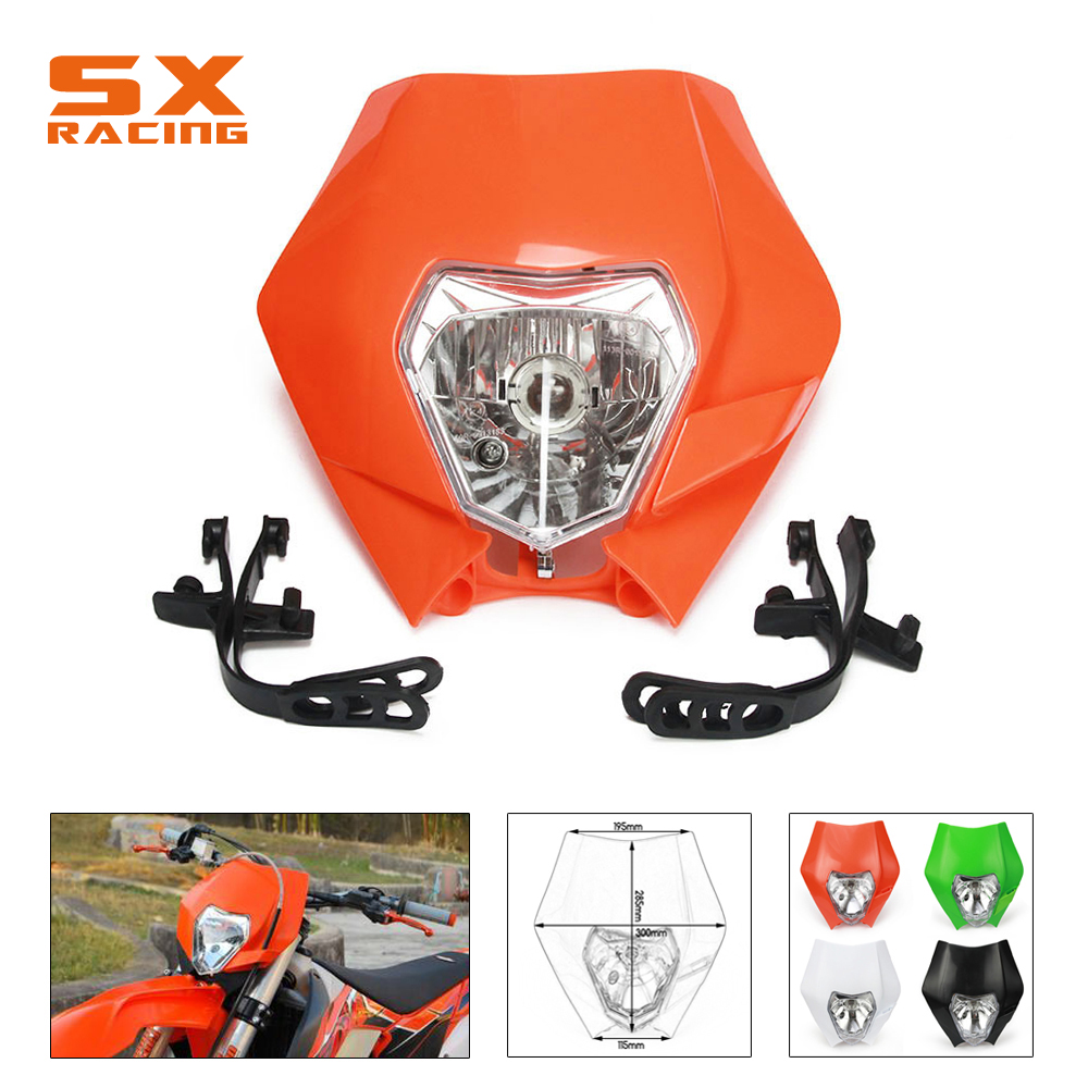 Motorcycle Colorful Universal Plastic Headlight Headlamp Frontlight For KTM SX SXF SXS SMR EXC EXCF XC XCF XCW XCFW EnduroMotorcycle Colorful Universal Plastic Headlight Headlamp Frontlight For KTM SX SXF SXS SMR EXC EXCF XC XCF XCW XCFW Enduro