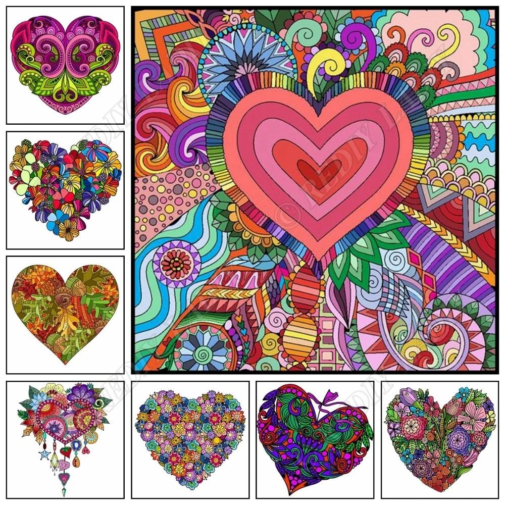 5d Bricolage Diamant Peinture Fleurs Coeur Plein Carre Rond Diamant Broderie Pixel Art Mosaique Point De Croix Couture Decor A La Maison Aliexpress
