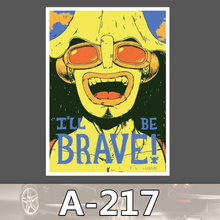 A-217 Braves Wasserdicht DIY Aufkleber Für Laptop Gepäck Skateboard Kühlschrank Auto Graffiti Cartoon Aufkleber