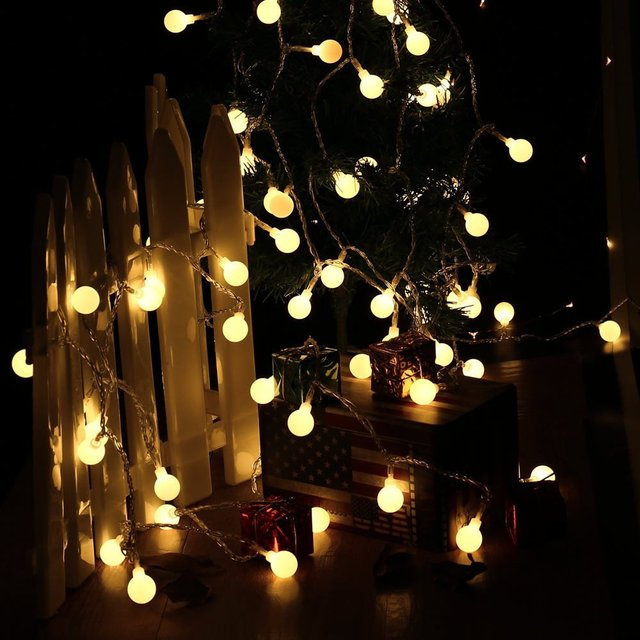 100 Globe Light String LED Christmas Lights With UL Certified Adapter, Fairy Lights For Wedding,Party And Holiday Decoration