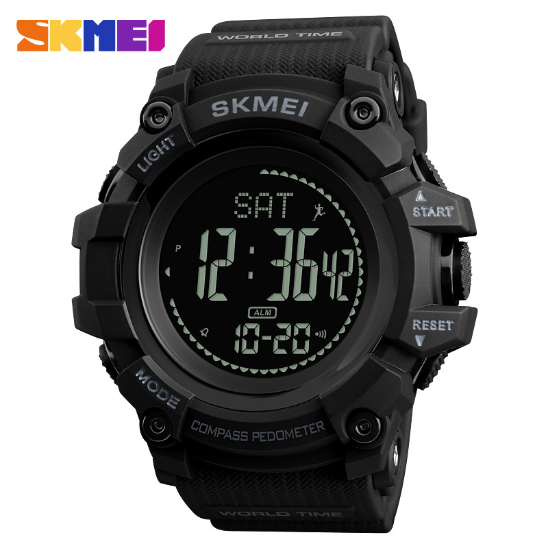 SKMEI Fashion Compass Calories Pedometer Sports Watches Men Outdoor Waterproof Military Digital Wristwatches Relogios Masculino цена