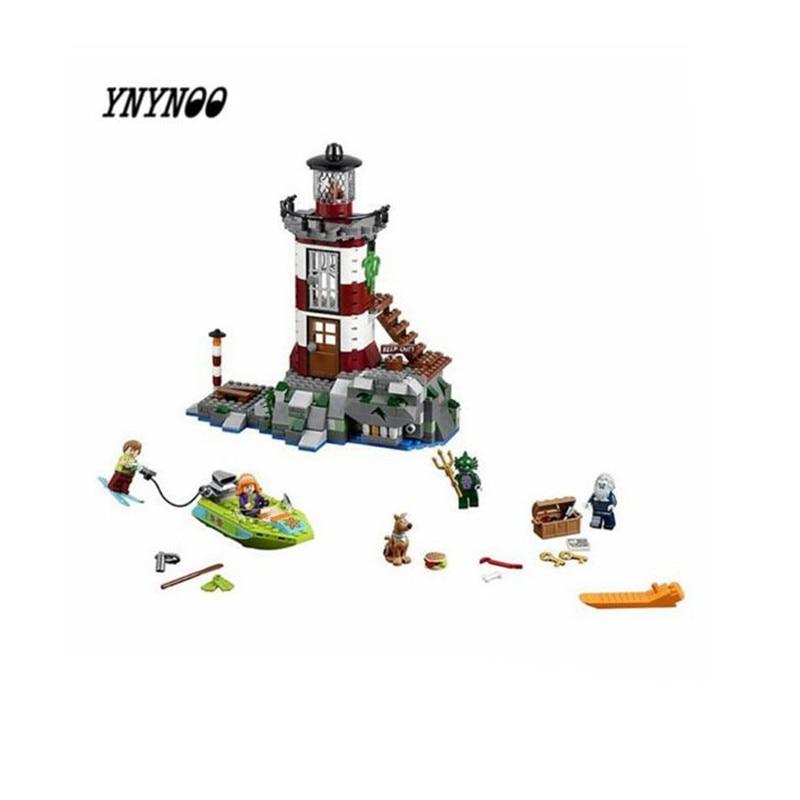 YNYNOO 2017 NEW Bela 10431 Haunted Lighthouse Scooby Doo Model Friends Bricks Blocks 3D Kids Toy Gifts K474