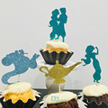 12 stücke prinzessin prinz cupcake topper, Aladdin prinzessin cupcake topper, Kind geburtstag cupcake topper Partei Liefert