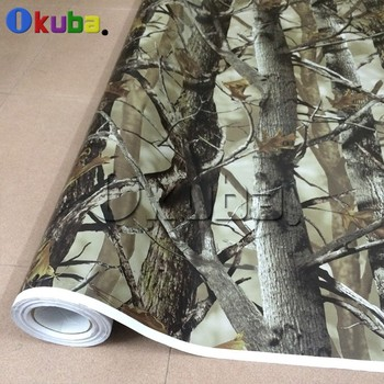 Real Leaf Tree Camouflage Vinyl  Mossy Oak Camo Vinyl Graphics Sheet Camouflage Vehicle Wrap Tree Leaf Foil 1.52*30m/roll