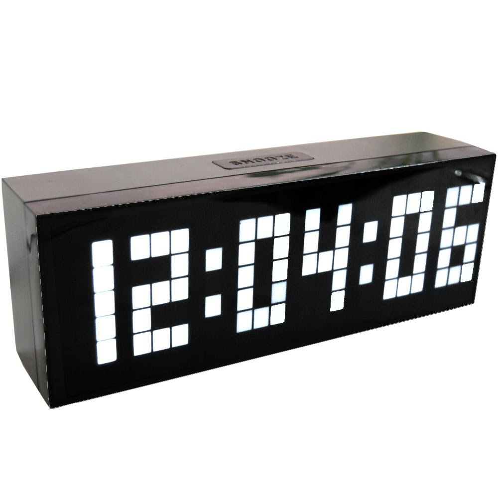 4 Warna LED Jam Digital Alarm Clock Wall Table Desktop Desain Baru dengan Suhu Kalender Tunda