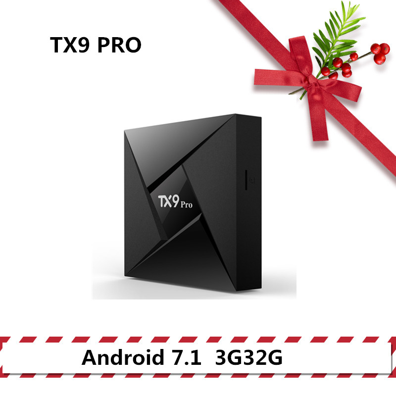 TANIX TX9 PRO tv box android 7.1 Set Top Box 3G32G BT télévision intelligente Amlogic S912 2.4 GHz support wifi 4 K lecteur multimédia hdmi 2.0