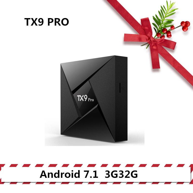 TANIX TX9 PRO tv caja android 7,1 Set Top box 3G32G BT Smart tv Amlogic S912 2,4 GHz WiFi soporte 4 K Media Player HDMI 2,0