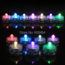 10pcs/lot LED submersible floralytes Remote controlled floral tea Light Candle w/timer controller RGB color-change Wedding Xmas