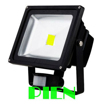 PIR Motion Sensor LED flood light outdoor security spotlight 10W 20W 30W 50W AC85V-265V by DHL 2pcs стоимость