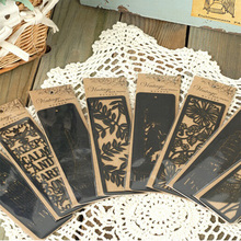 1pcs/Lot  NEW Vintage World Hollow style Series black bookmark novelty Book marks nice kids fashion gift