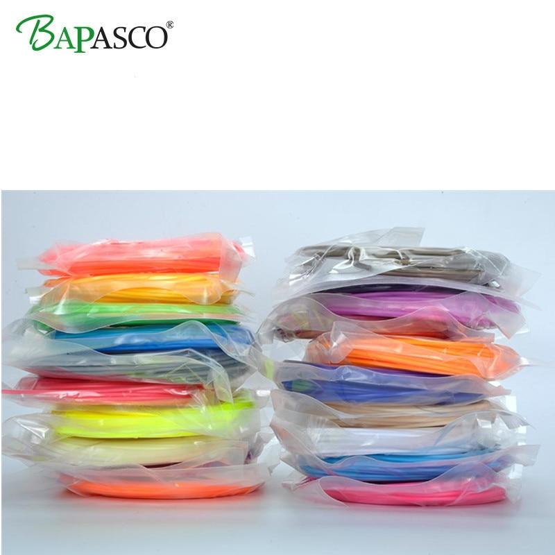 2018 BAPASCO Brand 3D Pen Filament thread 100M Or 200M 1.75mm ABS 20 Different Colors for 3D printing pens wire rod 3D linear