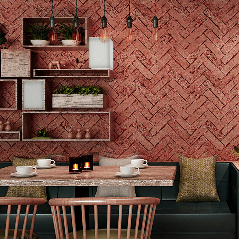 Modern 3D brick Wallpapers Personalized 3D Wall Murals Vintage Red Wall Paper Roll for Shop Bar Background Walls contact-paper wallpaper for walls 3 d modern trdimensional geometry 4d tv background wall paper roll silver gray wallpapers for living room
