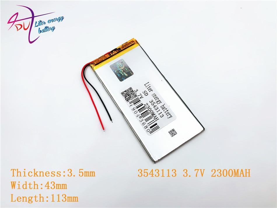 Liter Energie Batterie 3543113 3,7 V 2300 Mah Lithium-polymer-batterie Mit Schutz Bord Für Pda Tablet Pcs Digital Produkte Digital Batterien Stromquelle