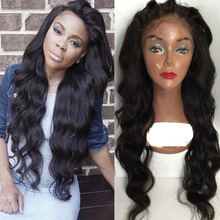 Unprocessed Virgin Brazilian Human Hair Silk based Full Lace Wig silk top Lace wig wavy Glueless Lace Front Wigs for black women