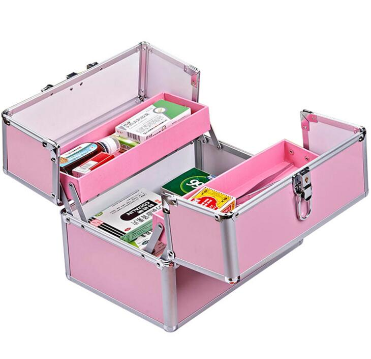 HMZ1---Aluminum Alloy kit box for domestic large family medicine box portable first-aid box portable kit