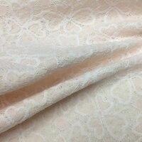 Rosa Oco Out Bordado Laço de Tecido Para Roupas De Lã Barata Metro de tecido de Moda Tecidos de Patchwork au Tissu Pano DIY Tela