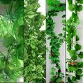 24pcs/lot 2.3M 3 Styles Artificial Ivy Leaf Hanging Garland Flower Vine for DIY Home Wedding Floral Wall Garden Decor