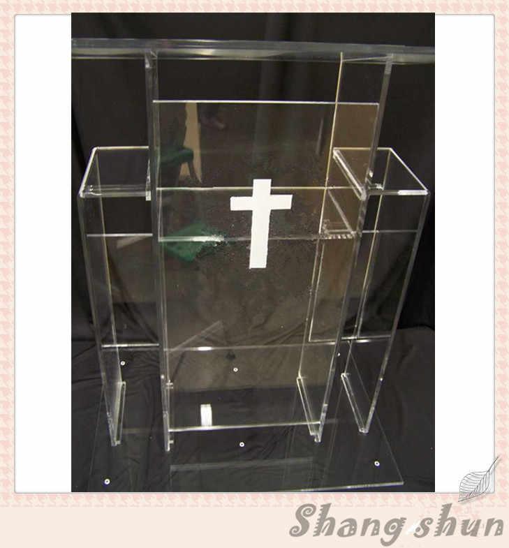 Klar Transparent Acryl Rednerpult Klaren Acryl Kirche Podium Acryl Kanzel Möbel Rednerpult Podium