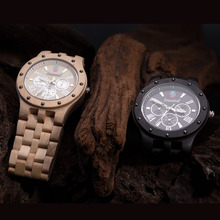 Мода Сезонные Новый Дизайн Деревянные Часы Мужчины Высокого Качества Япония Движение Сандалового Дерева Кварцевые Часы с Giftbox relogio masculino