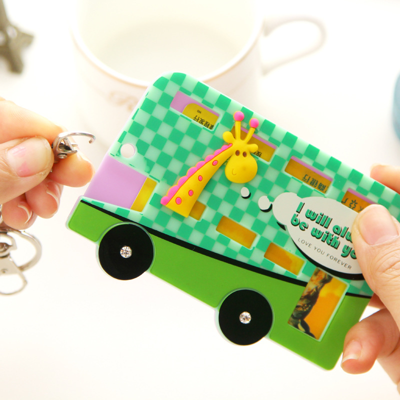Cartoon Bus And Animal Style Badge Holder High Quality Bank/Subway/Bus/ID Cards Plastic Card Sets Wholesale Free Shipping