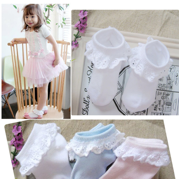 NEW QA8-01-QA8-24 autumn baby girl lace socks cotton toddler soks children accessories 2018 hot sale newest